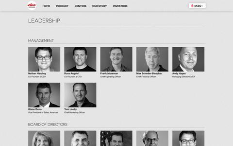 Screenshot of Team Page eksobionics.com - Ekso Bionics - Global leaders in bionics and robotic exoskeletons - captured Sept. 12, 2014