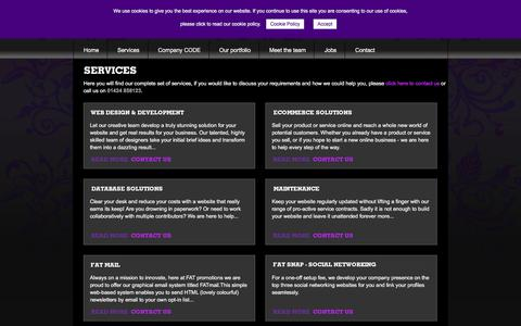 Screenshot of Services Page businessedgetechnologies.co.uk - Website design, Hosting, E-Commerce, Email marketing - captured Aug. 4, 2018