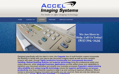 Screenshot of Products Page copytx.com - Products   Accel Imaging Systems - Fort Worth, Texas - captured Feb. 5, 2016