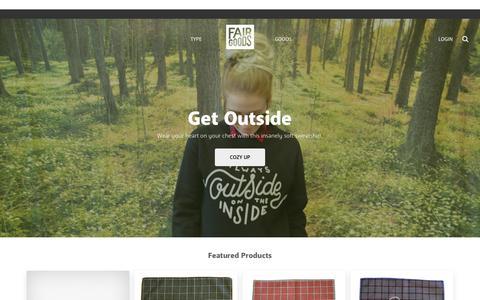 Screenshot of Home Page fairgoods.com - Fairgoods - captured Nov. 10, 2015