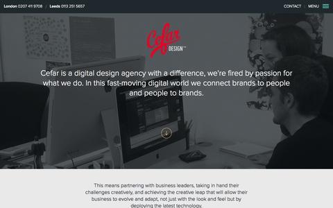 Screenshot of About Page cefar.co.uk - Connecting Brands To People, & People To Brands - About Cefar - captured Nov. 1, 2014