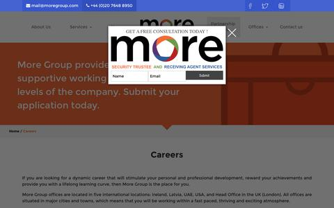 Screenshot of Jobs Page moregroup.com - Careers - More Group - captured Oct. 28, 2017