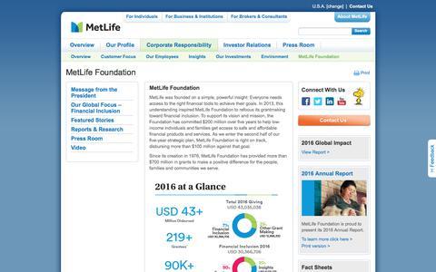 MetLife | MetLife Foundation