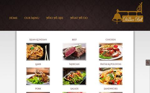 Screenshot of Menu Page dinnerbellkc.com - Our Menu - The Dinner Bell - captured Oct. 6, 2014