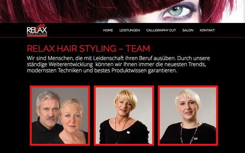 Screenshot of Team Page relax-hairstyling.de - Relax Hair Styling - Team - Relax Hairstyling - captured June 9, 2016