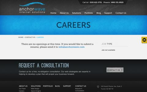 Screenshot of Jobs Page anchorwave.com - Careers | Anchor Wave - captured Oct. 4, 2014