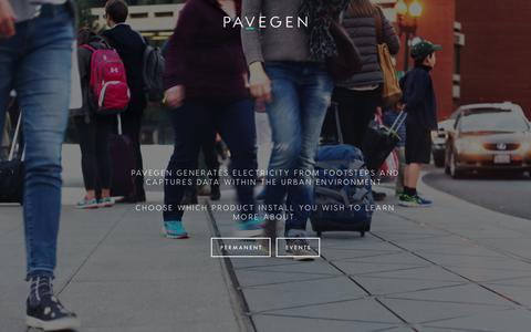 Screenshot of Home Page pavegen.com - Pavegen - The Next Step - captured June 9, 2017