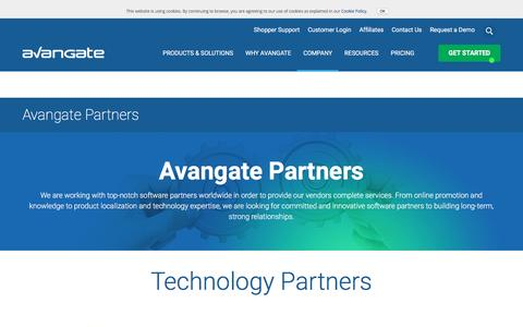 Screenshot of avangate.com - Top Software Partners to Help You Expand | eCommerce Partners - captured Sept. 30, 2016