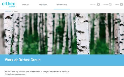Screenshot of Jobs Page orthexgroup.com - Orthex - Careers - captured Oct. 21, 2017