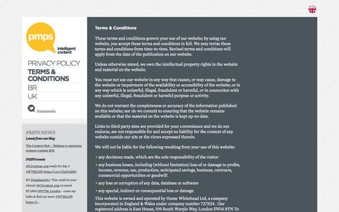 Screenshot of Terms Page pmpublishingsolutions.com - Terms & Conditions - PMPS - PMPS - captured Nov. 15, 2016