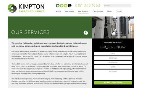 Screenshot of Services Page kimpton.ltd.uk - Our Services | Kimpton Ltd - captured Nov. 3, 2014