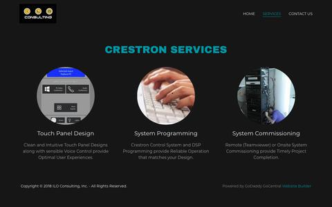 Screenshot of Services Page iloconsulting.com - ILO Consulting, Inc. | ILO Consulting, Inc. - captured Dec. 17, 2018