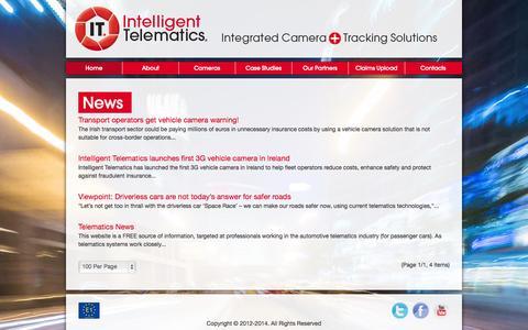 Screenshot of Press Page intelligent-telematics.ie - News - captured Oct. 4, 2014