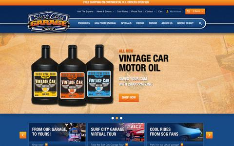 Screenshot of Home Page surfcitygarage.com - Surf City Garage - Premium Car Care Products - captured Oct. 25, 2015