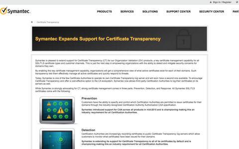 Symantec Expands Support for Certificate Transparency | Symantec