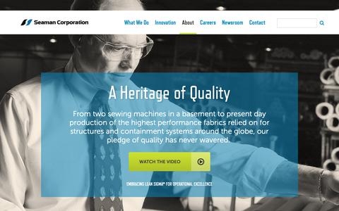 Screenshot of About Page seamancorp.com - Who We Are | Seaman Corporation - captured Oct. 25, 2018