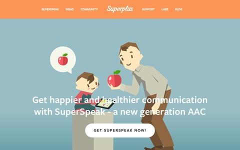 Screenshot of Home Page superpl.us - Superplus - Improving the lives of children with special needs - captured Aug. 13, 2015
