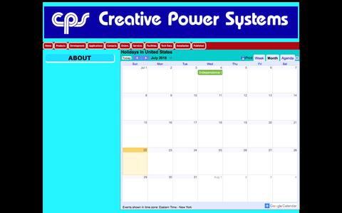 Screenshot of About Page creativepowersystems.net - About Creative Power Systems - captured July 23, 2018