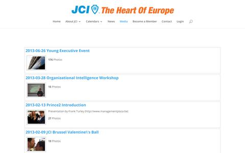 Screenshot of Press Page jcithoe.com - Pictures & Videos - JCI The Heart Of Europe - captured Oct. 3, 2017