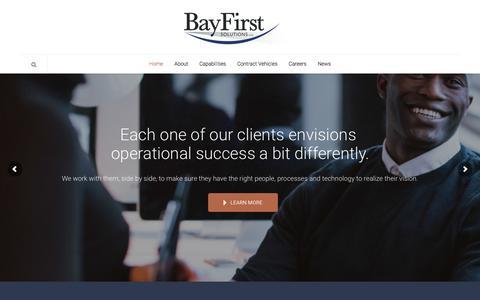 Screenshot of Home Page bayfirst.com - Home - BayFirst Solutions LLC - captured April 30, 2016