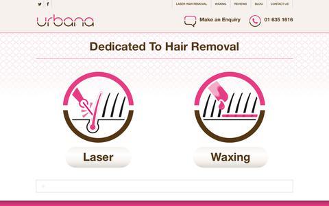 Screenshot of Home Page urbana.ie - Laser Hair Removal Dublin - Urbana Hair Removal Clinics - captured Nov. 14, 2017