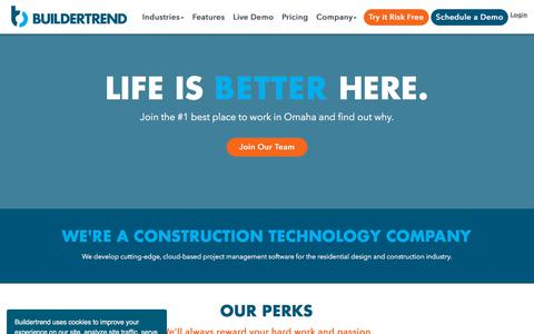 Screenshot of Jobs Page buildertrend.com - Join Our Team | Buildertrend - captured Oct. 5, 2019