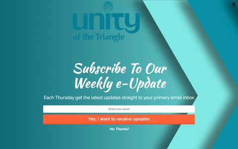 Screenshot of Support Page unitytriangle.org - Support | Unity Triangle - captured Nov. 29, 2016