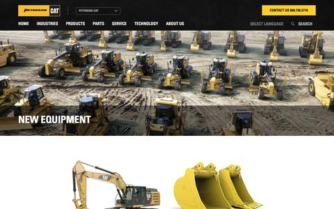 Screenshot of Products Page petersoncat.com - New Caterpillar Construction Equipment for Sale | Peterson Cat - captured July 17, 2018