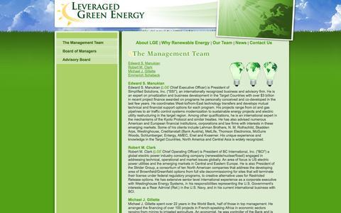 Screenshot of Team Page lgefund.com - Management Team - captured Oct. 2, 2014