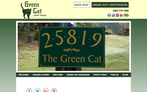 Screenshot of Contact Page Maps & Directions Page greencatbb.com - Get Away to the Kitsap Peninsula: Inn Accommodations in Poulsbo - captured April 13, 2017