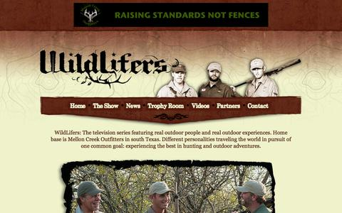 Screenshot of Home Page wildlifers.tv - The WildLifers | Dan Braman and Jimmy Brown | Experience the Best Hunting and Outdoor Adventures Around the World - captured Oct. 7, 2014
