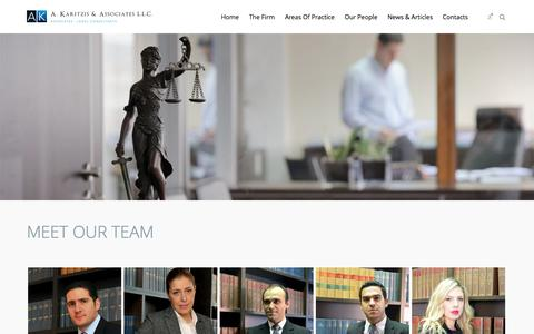 Screenshot of Team Page karitzis.com - Karitzis LLC:  » Our People - Lawyers in Limassol, Cyprus - captured Oct. 27, 2014