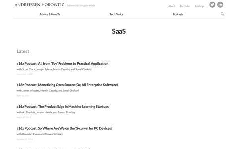 SaaS – Andreessen Horowitz
