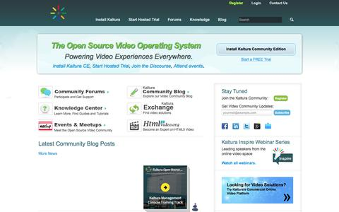 Kaltura: Open Source Video Developer Community | Leading the Open Video Revolution
