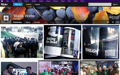 Screenshot of Flickr Page flickr.com - Flickr: Tequila Works' Photostream - captured Oct. 25, 2014