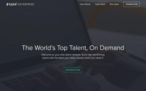 Top Talent, On Demand | Toptal