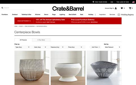 Decorative Centerpiece Bowls: Glass & Metal   Crate and Barrel