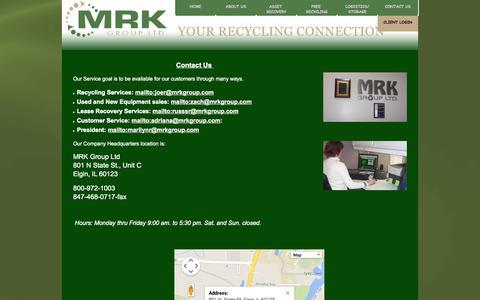 Screenshot of Contact Page mrkgroupltd.com - MRK Group Ltd. - contactus - captured Sept. 30, 2014