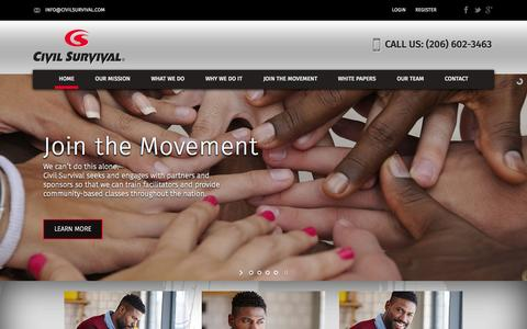 Screenshot of Home Page civilsurvival.com - CivilSurvival.com – Just another WordPress site - captured Sept. 19, 2015