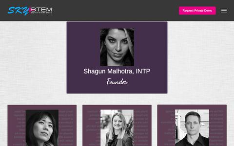 Screenshot of Team Page skystem.com - Team - SkyStem - captured Oct. 19, 2018