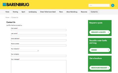 Screenshot of Contact Page barenbrug.co.uk - Barenbrug UK | Contact Us - captured Aug. 1, 2018