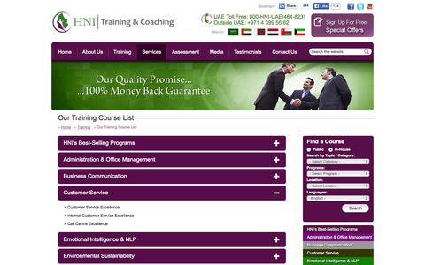 Screenshot of Support Page hni.ae - Training Courses Abu Dhabi, Training Courses In UAE & Abu Dhabi - captured Oct. 10, 2014