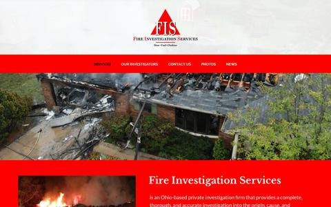 Screenshot of Home Page fireinv.com - Fire Investigation Services - captured Oct. 13, 2017