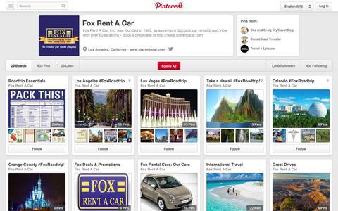 Screenshot of Pinterest Page pinterest.com - Fox Rent A Car on Pinterest - captured Oct. 23, 2014