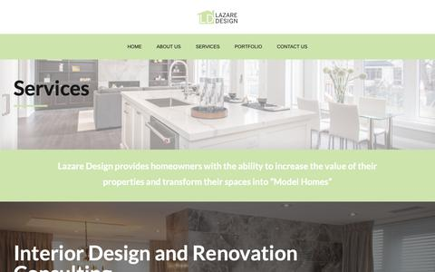 Screenshot of Services Page lazaredesign.ca - Services – Lazaredesign - captured Dec. 7, 2018