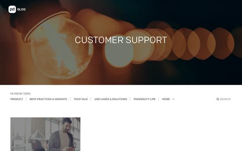 Screenshot of Support Page pagerduty.com - Customer Support | Categories | PagerDuty - captured March 7, 2018