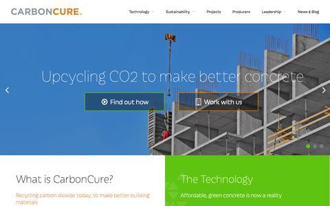 Screenshot of Press Page carboncure.com - CarbonCure  |  News - captured June 17, 2015