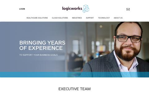 Screenshot of Team Page logicworks.net - Executive Team | Logicworks - captured July 20, 2014