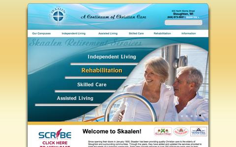 Screenshot of Home Page skaalen.com - Skaalen Retirement Services, Inc. - captured June 16, 2016