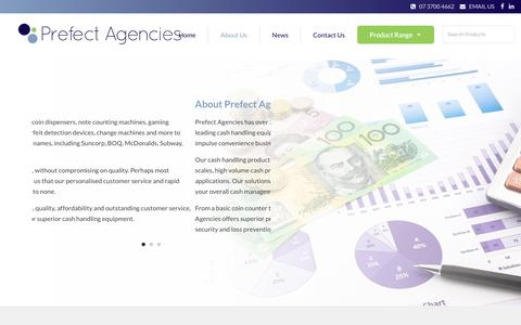 Screenshot of About Page prefectagencies.com.au - About Prefect Agencies - We understand your cash processing needs - captured Dec. 8, 2018